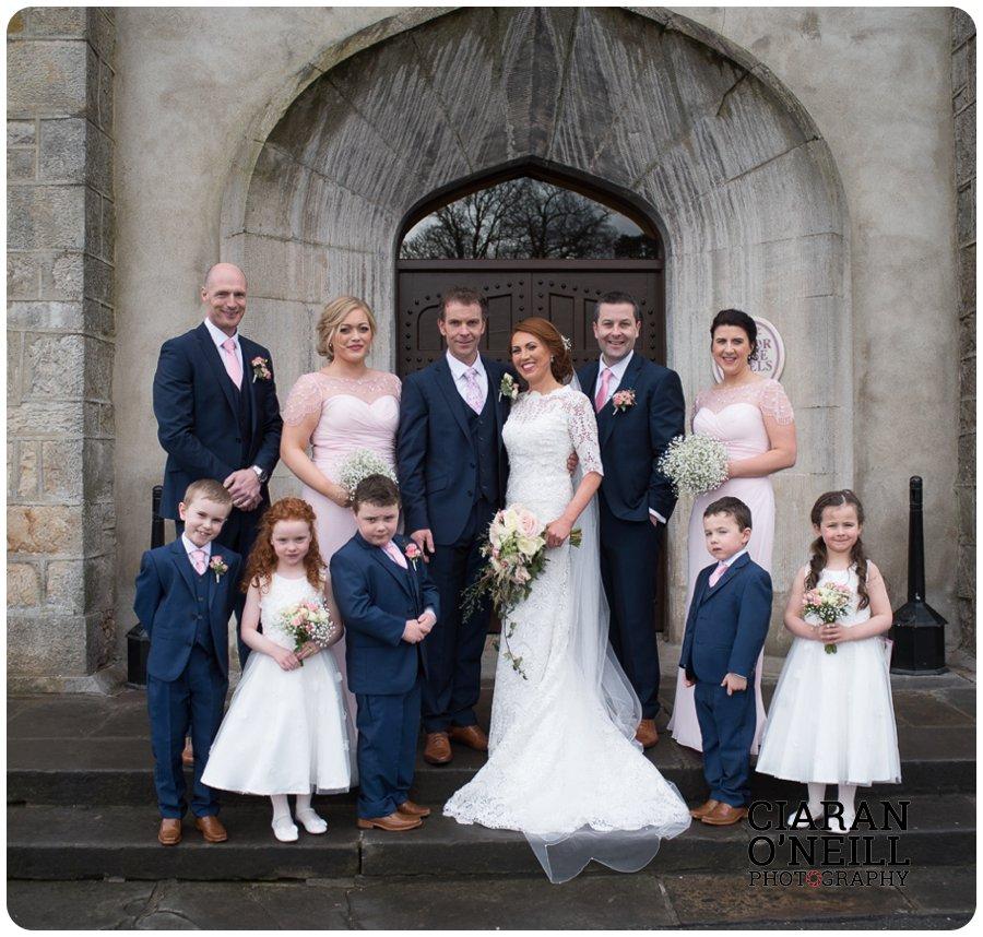 Lorraine & Paddy's wedding at Cabra Castle 13
