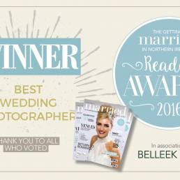 Getting Married in Northern Ireland Reader Awards 2016 - Ciaran O'Neill Photography - Voted Best Wedding Photographer