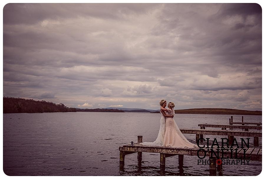 Emma & Leanna's wedding at Lusty Beg Island by Ciaran O'Neill Photography