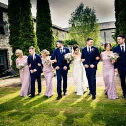 Cabra Castle bridal party wedding photography