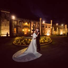 Castle bellingham evening wedding photography