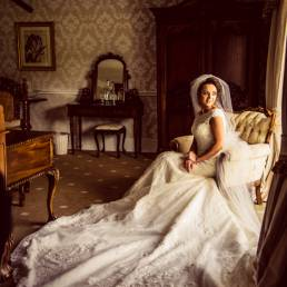 Darver Castle drawing room wedding photography