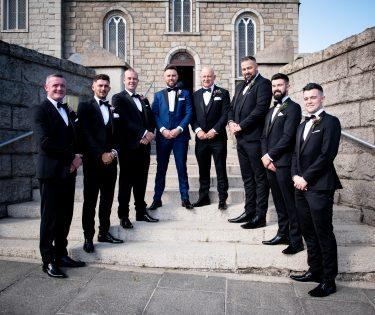 Modern Groom and his groomsmen